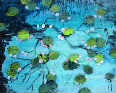 Araki Pond 16 x 20 in. acrylic on panel