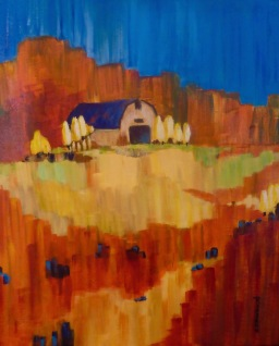 Autumn Acres acrylic 24 x 20 plus frame $795