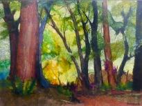 Forest Monarch 11 x 14 plus frame chigiri-e sold