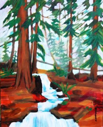 Maxwell Creek 20 x 16 in. acrylic on canvas $425