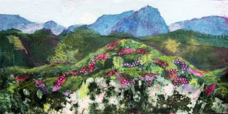 Mountain Azaleas 15 x30 plus frame collage $895