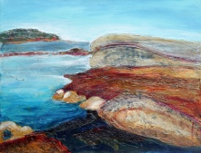 Superior's Shore 14 x 18 inches acrylic